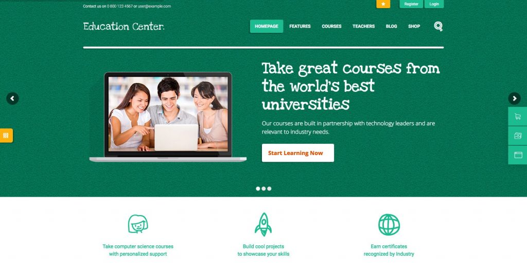 Education Center- Education WordPress theme