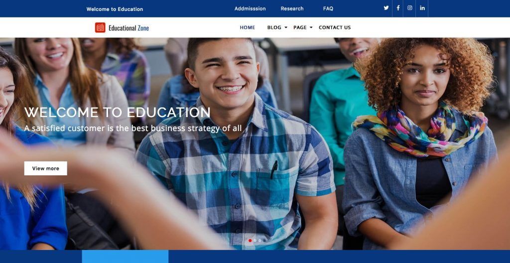 Educational Zone- educational theme for WordPress