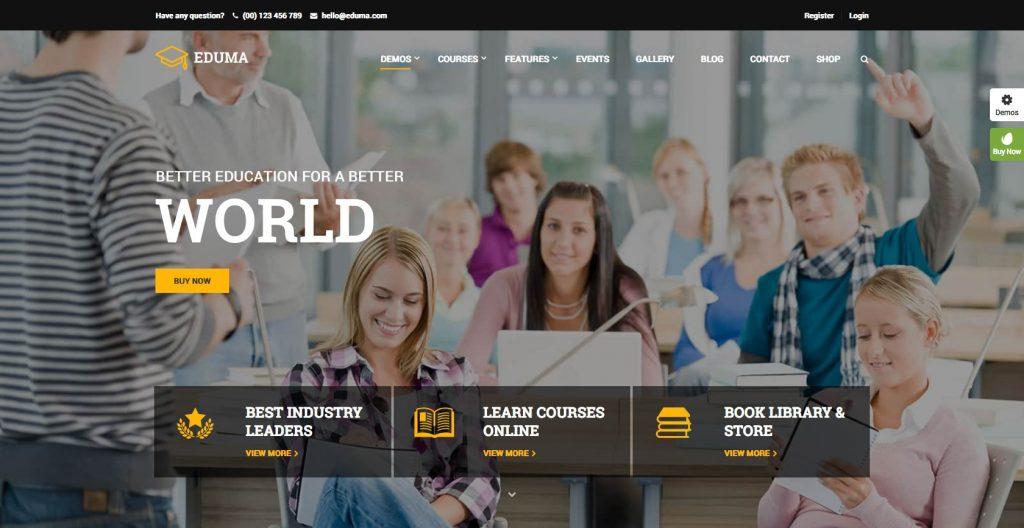 EDUMA- Education WordPress theme