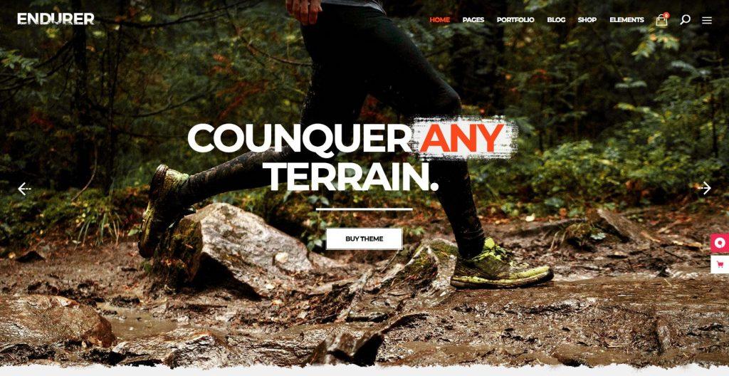 Endurer- simple WordPress sports theme