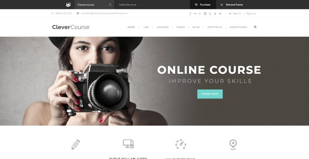 Clever Course- WordPress theme for Educational institute
