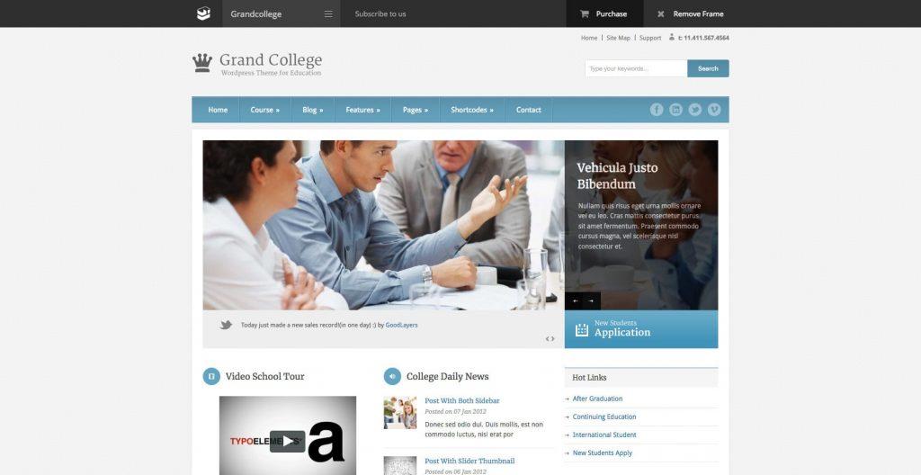 Grand College- WordPress educational theme