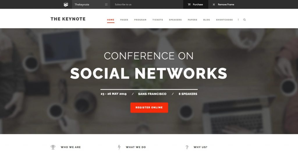 The Keynote- Responsive WordPress educational theme