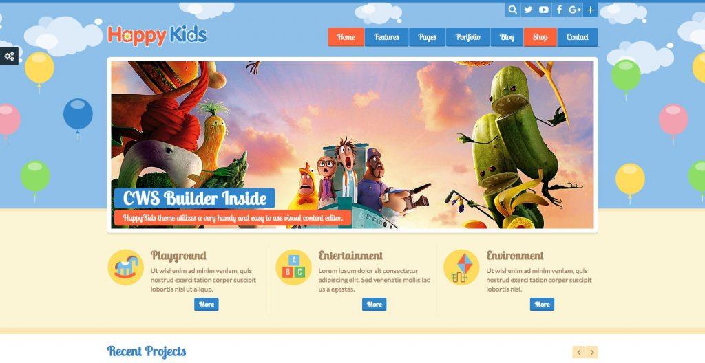 Happy kids- WordPress education theme for kids
