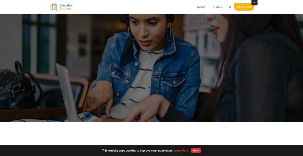 Educational Business- modern and minimal education WordPress theme