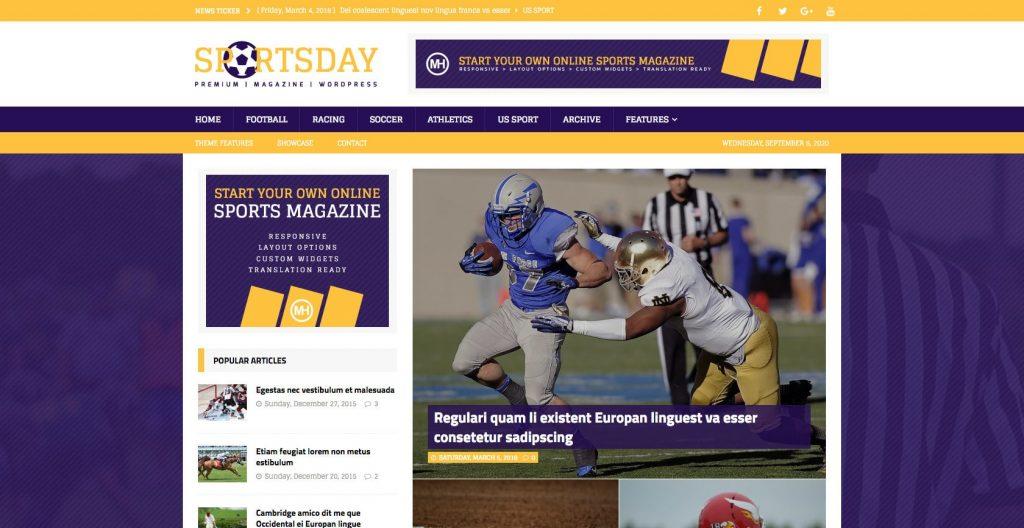MH Sports Magazine- WordPress theme for sports magazines