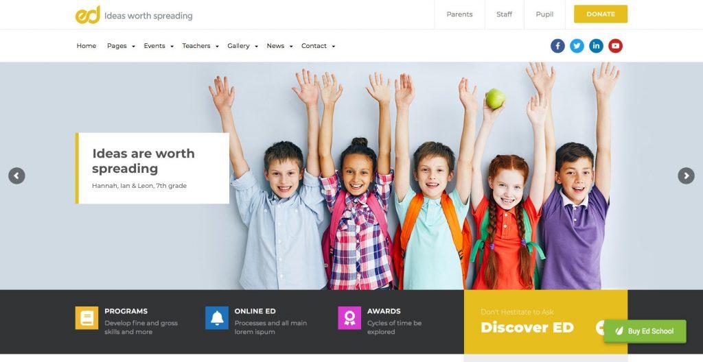 Ed School- WordPress education theme