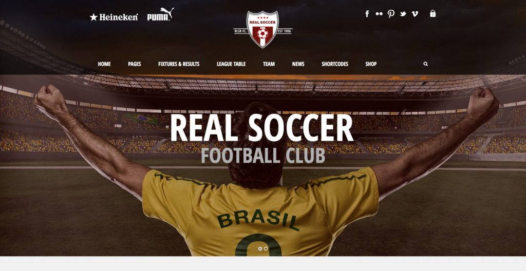 Real Soccer- responsive sports club WordPress theme