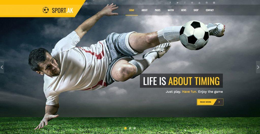 Sport.AK- modern yet simple WordPress sports theme
