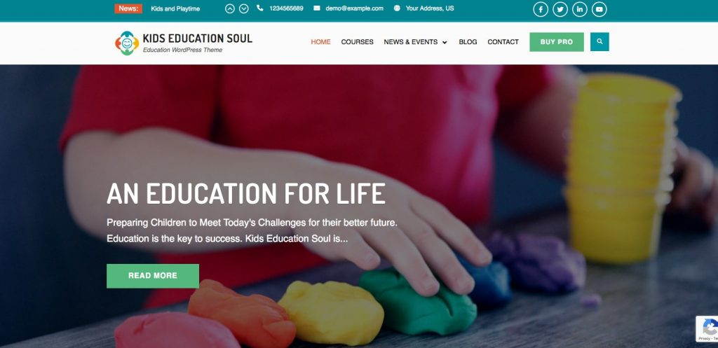 Kids Education Soul- user-friendly education WordPress theme