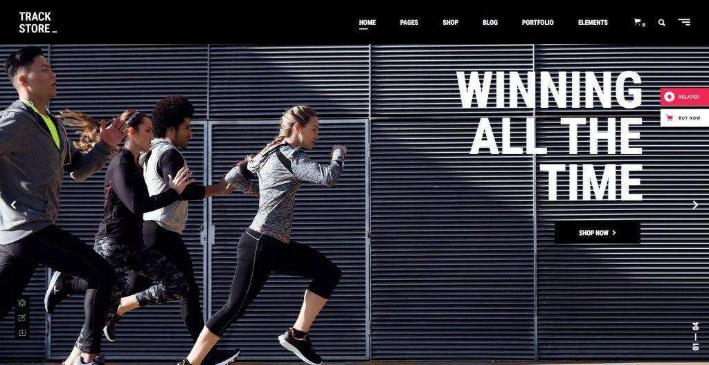 Track Store- sports WordPress theme
