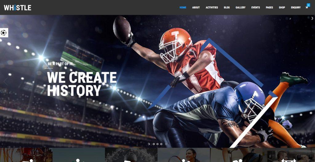 Whistle- WordPress sports theme