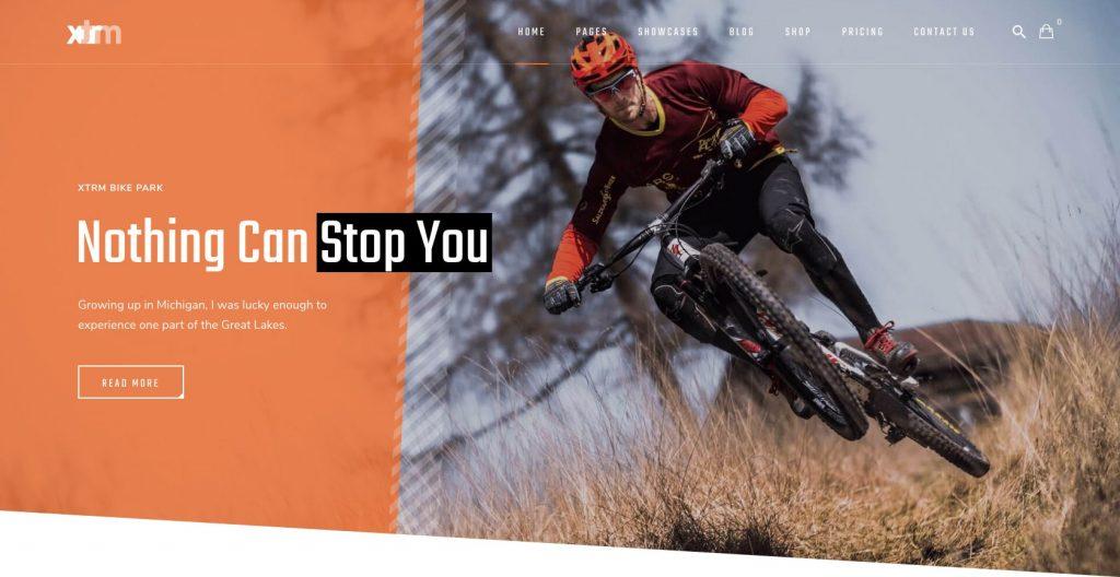 XTRM- clean and modern WordPress sports theme