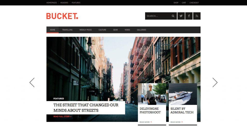 Bucket- Best drag and drop WordPress theme