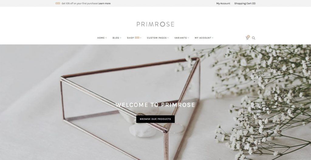 Primose- Best drag and drop WordPress theme