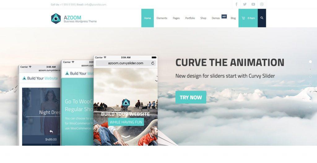 Azoom- WordPress theme