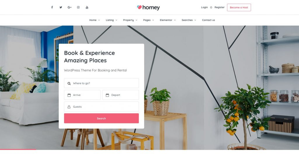 Homey- drag and drop WordPress theme