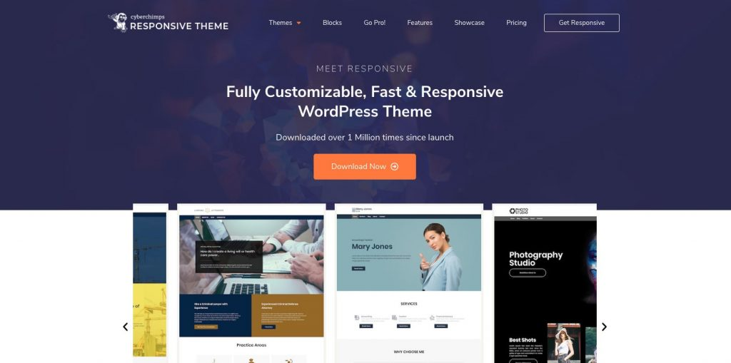 Responsive Pro- Best drag and drop WordPress theme