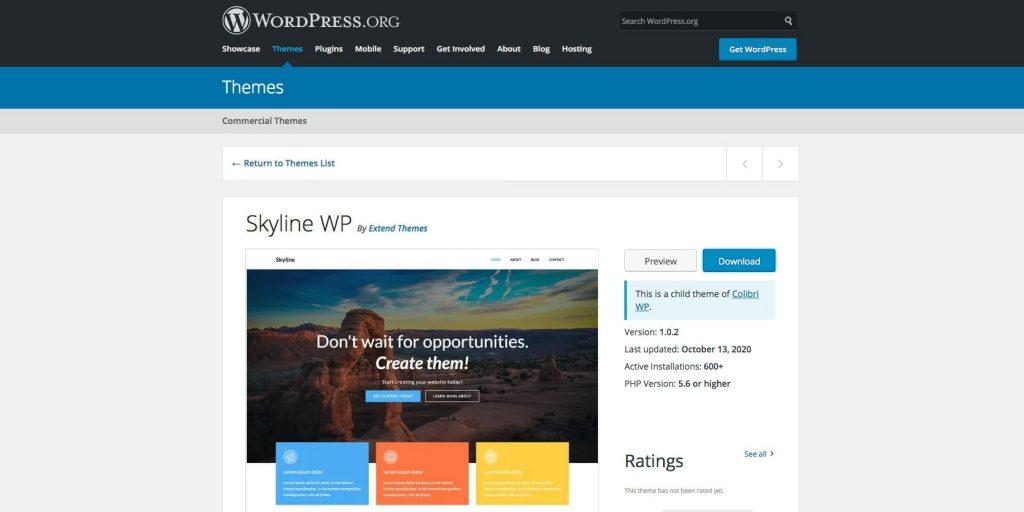 Skyline- Multipurpose WordPress theme