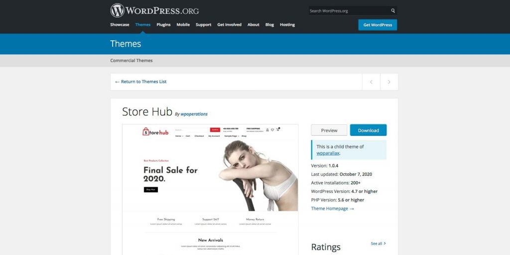 Store hub- WordPress theme for eCommerce