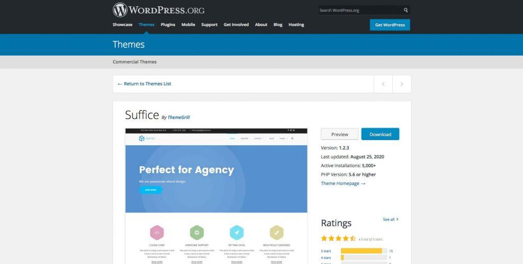 Suffice- Free drag and drop WordPress theme