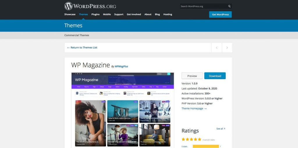 WP Magazine- WordPress theme for blogs, magazines, and online news portals