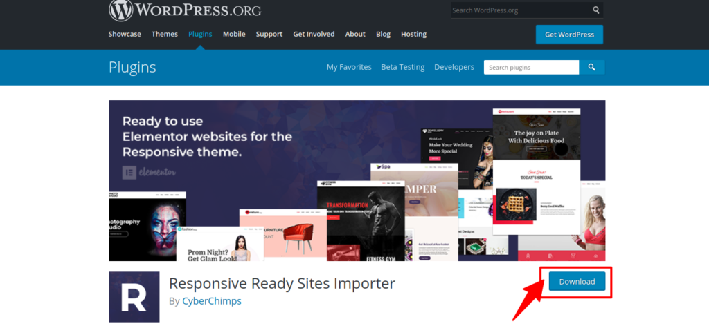 Ready Site importer plugin- lawyer website