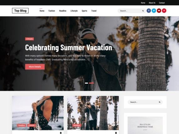 Top Blog- Free WordPress blog theme