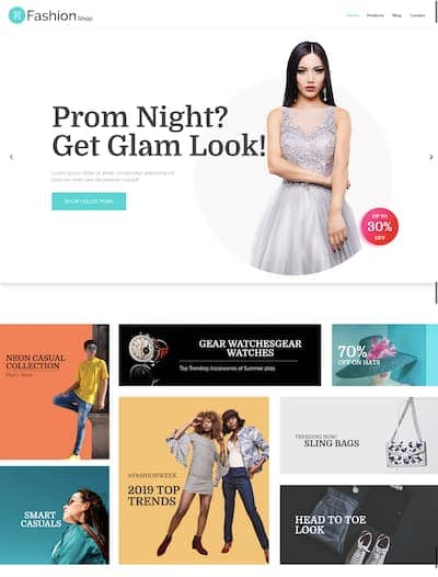 WordPress fashion shop theme