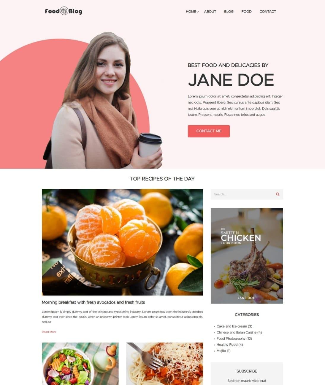 WordPress Food Blog Theme
