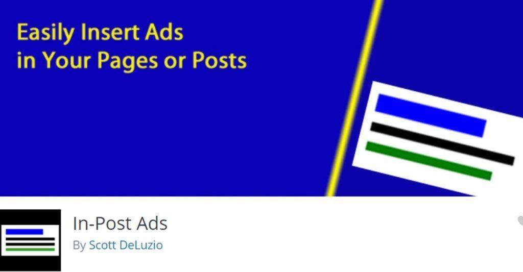WordPress banner ad plugin- in post ads