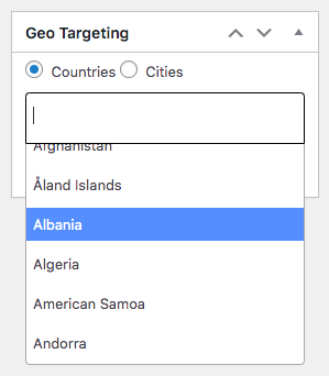 Geotargeting- WordPress ads plugin