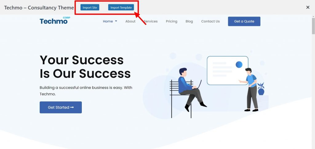 Import Site- WordPress Ready-site Importer