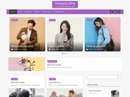Awesome Blog- Free WordPress Blog theme