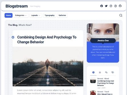 Blogstream- Blog WordPress theme