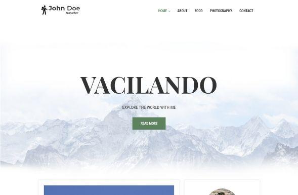 Free travel blogger WordPress theme