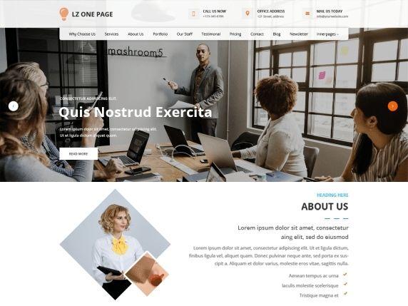 LZ One Page- Free WordPress landing page theme