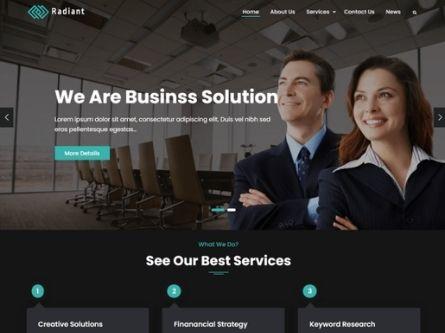 Radiant Business Theme- Free Business WordPress theme