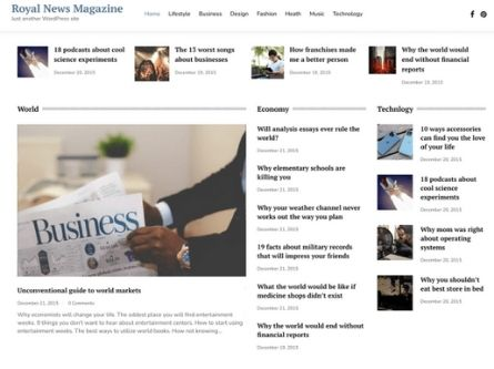 Royal News Magazine- Free WordPress Magazine theme