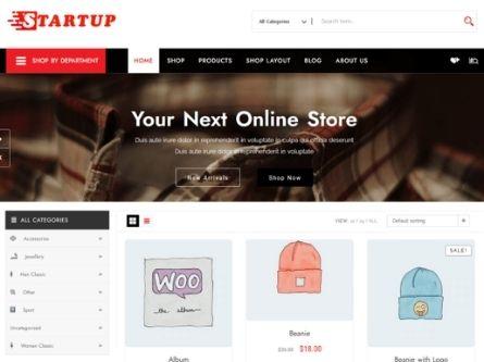 Startup Shop- Free WooCommerce theme