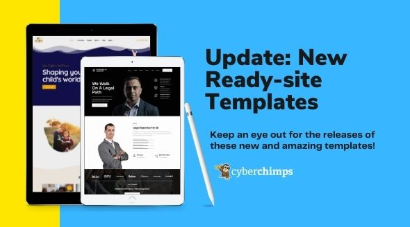 Update: 9 New Ready-Site Templates For Your WordPress Website