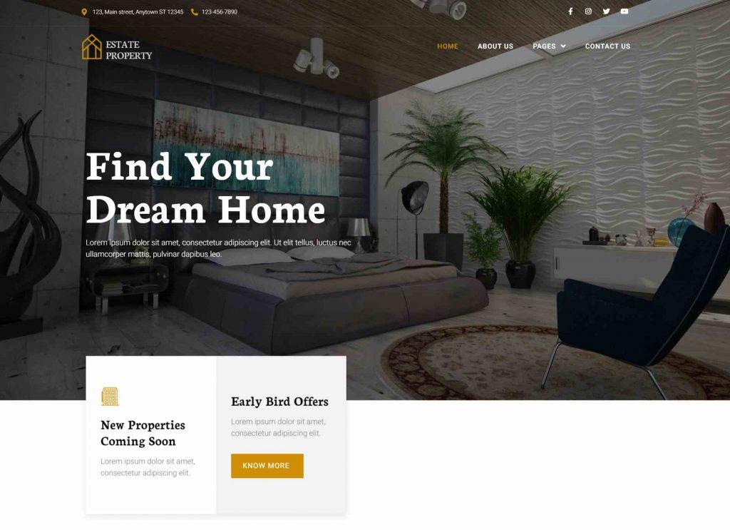 New Real Estate WordPress Theme