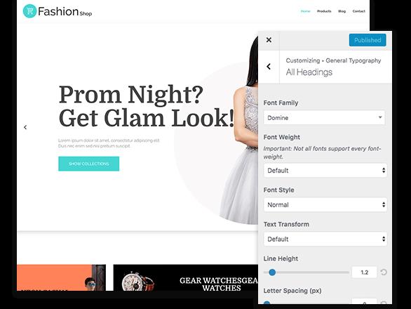 Responsive typography options